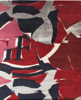 Gianfranco-Ferre©-Collection-Sahrai- Abstract modern red rug